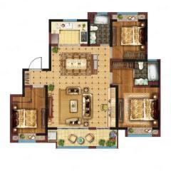 (新城区)恒泰金樾府3室2厅2卫132.69m²毛坯房