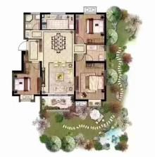 (新城区)龙湖领墅3室2厅1卫128m²