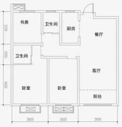 (老城区)金茂花园3室2厅1卫