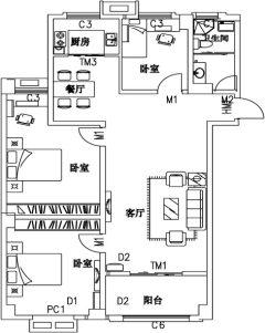 (老城区)锦绣豪庭3室2厅1卫