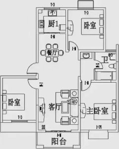 (城东区)汇龙国际花园3室2厅1卫
