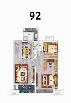 (城东区)华地桃源里2室2厅1卫70万92m²出售