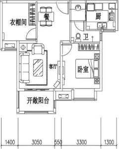 (新城区)阿尔卡迪亚文承苑2室2厅1卫73.8万77m²精装修出售