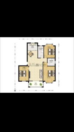 (城西区)名城国际1室2厅2卫86万120.3m²出售