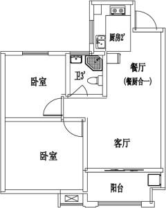 (城东区)明德书香苑 2室2厅1卫80万78m²出售